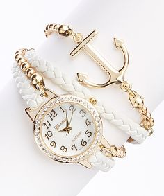 White Anchor Bracelet Watch | zulily