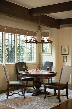 Bernhardt Eaton Square 5 Piece Dining Set with Round Pedestal Table - Baer's Furniture Table, Florida Furniture, Dining Room Furniture, Dining Furniture, Furniture, Side Chairs, Bernhardt Furniture, Home Decor, Dining Table
