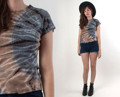 Dark Tie Dye Shirt Tshirt 90s Grunge Black Goth by WildLifeTX, $28.00