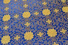 Stoff Ornamente - 150 x 90cm Brokat Stoff gewebt Stickerei (1.5m) - ein Designerstück von e_bou1 bei DaWanda
