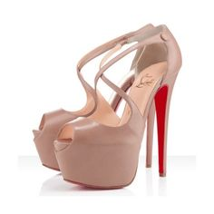 Christian Louboutin Exagona 160mm Leather Sandals Beige. Only $125.00