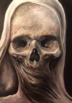 Animated Skull Original by Zack Dunn - Oil on Board Animated by Cousin Ike of Steampunkd Studio Arte Horror, Horror Art, Rock Poster, Skull Pictures, Skull Artwork, Arte Obscura, Skull Wallpaper, Macabre Art, Creepy Art