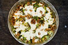 Quiche zonder deeg: Broccoli, geitenkaas en walnoten