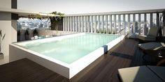 Terraza: Piletas de estilo moderno por Arcadia Arquitectura