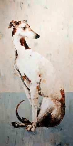 Sitting Greyhound, by Constance Bachmann