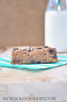 Flourless Almond Joy Blondies. A must try! NO flour and NO oil, yet they taste decadent! Vegan, gluten free and grain free.