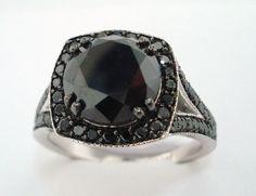 5.20 Carat CERTIFIED Fancy Black Diamonds by JewelryByGaro on Etsy