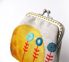 little cute embroidered purse