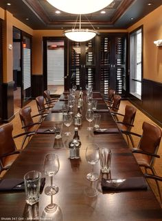 The Coaches Corner Private Dining Room, located in Shula's 347 Grill - Roanoke. Great for meetings and social events.