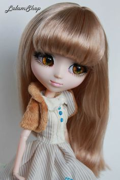 Flaxen Wig 85  9'' size for Pullip doll. by LalamShop on Etsy