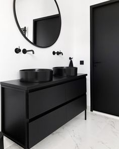 White Bathroom Ideas - Prior to you start decorating an all-white bathroom, there are a couple of things you require to understand. A professional shares her vital white bathroom . All White Bathroom, Black White Bathrooms, Modern Bathroom, Small Bathroom, Bathroom Ideas, Shower Ideas, Black Bathroom Furniture, Black Bathroom Decor, Bathroom Colours