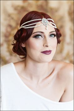Amazing vintage Art Deco/Gatsby wedding makeup {Photo by William Innes Photography via Project Wedding}