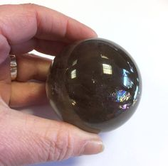 Smoky Quartz crystall ball Crystal Shop, Gem Stones, Smoky Quartz, Witchcraft, Crystal Healing, Minerals, Spirit, Rainbow, Crystals