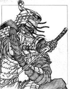 La dance du sabre de um Samurai.
