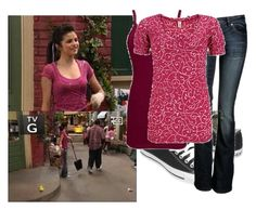 """""""Selena Gomez as Alex Russo"""" by jc10 ❤ liked on Polyvore featuring Disney, Converse, BKE, Yuki, wowp, selena gomez, wizards of waverly place, art museum piece and alex russo"""