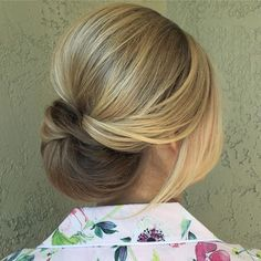 A soft up-swept 'do from the weekend!