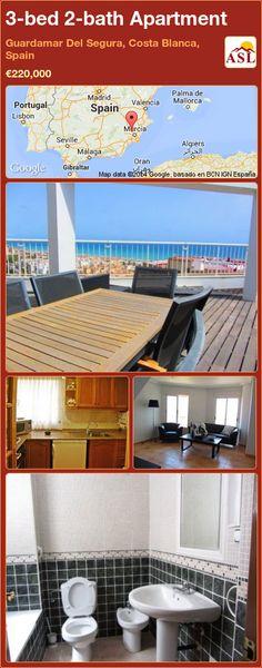 3-bed 2-bath Apartment in Guardamar Del Segura, Costa Blanca, Spain ►€220,000 #PropertyForSaleInSpain