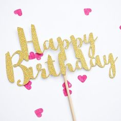 Happy Birthday Cake Topper small - Happy Birthday Cake Topper small    Happy birthday cake topper small  #birthday #decoration #love #decor #party #interiordesign #happybirthday #homedecor #happy #design #birthdaygirl #interior #family #art #photography #home #hiphop #architecture #instagood #interiors #food #designer #music #fun #homedesign #cake #furniture #travel #interiordesigner #friends Birthday Party For Teens, Birthday For Him, Teen Birthday, Princess Birthday, Birthday Party Decorations, Create A Cake, Happy Birthday Cake Topper, Birthday Design, Sweet Life