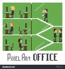 Image result for pixel art office