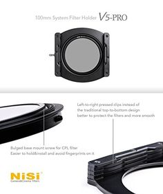 Porte Filtre NISI Système 100mm V5 PRO en aluminium: Amazon.fr: High-tech