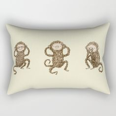 Check out society6curated.com for more! @society6 #illustration #home #decor #homedecor #interior #design #interiordesign #buy #shop #shopping #sale #apartment #apartmentgoals #sophomore #year #house #fun #cool #unique #gift #giftidea #idea #pillows  #monkey #chimps #chimpanzees #funny #lol #seenoevil #speaknoevil #hearnoevil #drawing #cute #adorable #toocute