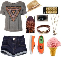 """""""Ice Creɑm in the Pɑrk w/ Ed for his Birthdɑy"""" by nialls-one-thing ❤ liked on Polyvore"""