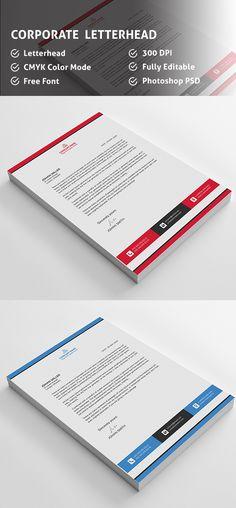 corporate psd letterhead