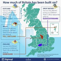 How Much of Britain Has Been Built On?
