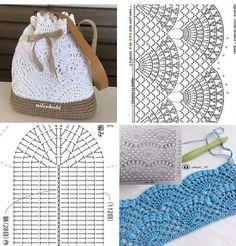 Crochet handbags 156992736999351379 - Source by Crochet Backpack Pattern, Free Crochet Bag, Mode Crochet, Crochet Purse Patterns, Crochet Market Bag, Crochet Tote, Crochet Handbags, Crochet Purses, Crochet Crafts