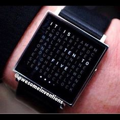 Time Telling Watch With Words! AVAILABLE on our website! (search awesomeinventions.com) Follow our BACKUP ACCOUNT  @Amazing Inventions @Amazing Inventions @Amazing Inventions @Amazing Inventions  #Padgram