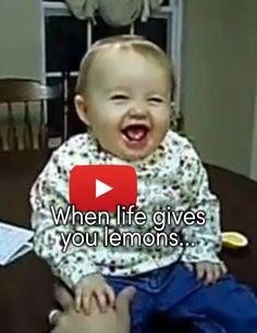 Babies tasting lemons! #Cute #Babies
