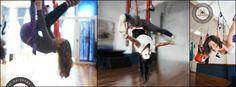 Las  cientos de posturas originales  del sistema AeroYoga® (aerial yoga postures) se desarrollan desde el suelo y se terminan trabajando en  el aire en total seguridad, permitiendo sensaciones de fuerza y libertad. www.aerialyoga.tv