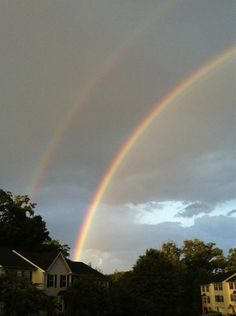 Double rainbow show on June 7 2012 around Baltimore. The full collection of pics I got through FB and Twitter plus my video of a full arch