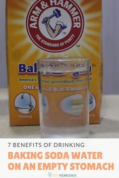 7 Benefits of Drinking Baking Soda Water on an Empty Stomach Drinking this baking soda water on an empty stomach will provide you relief from so many health and beauty problems #DIYRemedies #BakingSoda