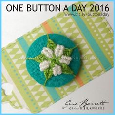 Day 92: Greater Stitchwort #onebuttonaday by Gina Barrett