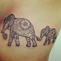 awesome Women Tattoo - 50 Original Elephant Tattoo Designs. #7 is Genius....