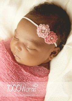 Coral pink peach guava Crochet flower baby by 4thgenerationdesigns, $10.00
