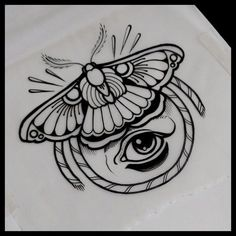 Black Moth Tattoo Idea #TattooIdeasDibujos