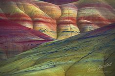 I've seen Red in Nevada, but never knew about these. The Painted Hills, Central Oregon.  Awesome!