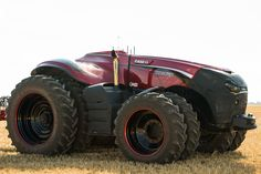 Case IH unveiled an autonomous concept vehicle today at the Farm Progress Show in Boone, Iowa. The concept vehicle is a cabless Case IH row crop tractor that. Case Ih, Tractor Drawing, Detroit Cars, Engin, Heavy Equipment, Logging Equipment, Exotic Cars, Cars And Motorcycles, Cool Cars