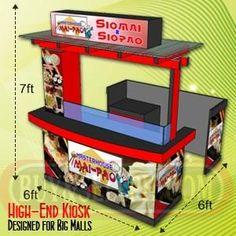 Kiosk, Cart, Food Cart, Food Stall for Sale, Cark Kiosk Fabricator Silang - Philippines Buy and Sell Marketplace - PinoyDeal Food Stall Design, Food Cart Design, Food Truck Design, Kiosk Design, Booth Design, Food Cart Business, Mobile Food Cart, Mall Kiosk, Food Kiosk