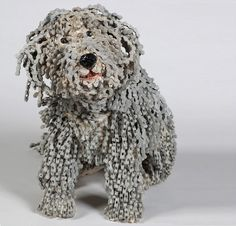 Nirit Levar creates sculptures out of recycled bike parts.