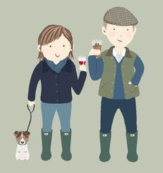 Illustrating my family - my dad and Corinne!