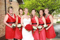 Sammie & Her Girls -- Classic Red, White & Black Wedding -- How Gatsby! Beautiful Roses!! by Jennny Thomasson AIFD of Stems Florist - St. Louis, MO www.stems4weddings.com #wedding #roses #bouquet