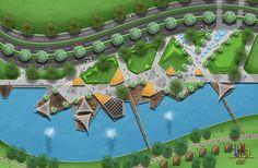 Landscape Sketch, Landscape Plans, Urban Landscape, Architecture Portfolio Layout, Landscape Architecture Design, Lanscape Design, Urban Park, Parking Design, Modern Landscaping