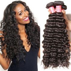Brazilian Hair Weave Overnight Shipping Hair Bundles Deep Curly Wholesale Virgin Hair 3 Bundles With Lace Closure Three Part Cheap Brazilian Hair Bundles, Brazilian Curly Hair, Kinky Curly Hair, Curly Weave Hairstyles, Haircuts For Long Hair, Curly Hair Styles, Natural Hair Styles, Choppy Hairstyles, Long Curly Weave