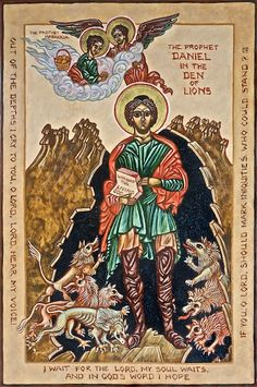 "THE PROPHET DANIEL IN THE DEN OF LIONS;  ""Worship the Living God."""