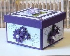 Let's create: Purple Tealight Boxes