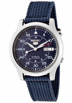 Seiko Men's Seiko 5 Automatic Blue Dial Blue Fabric