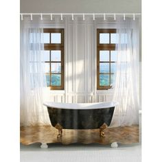 Squirrel on Tree Fairy Fabric Shower Curtain Set Bathroom Curtains Liner 180CM